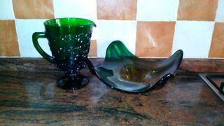 Conjunto de mesa jarrón florero