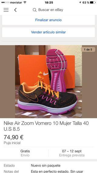 Nike Air Zoom Vomero 10 nueva con etiquetas