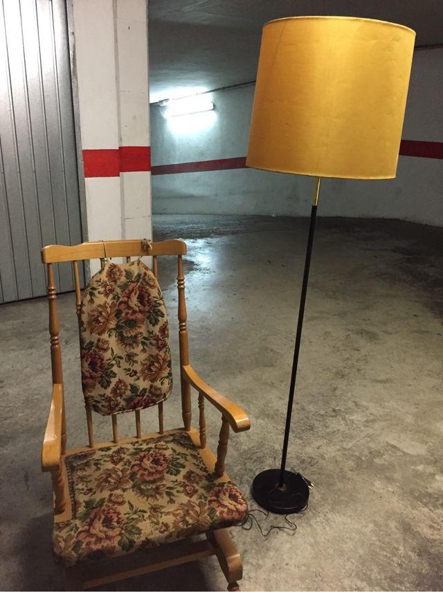 Conjunto de lámpara + balancín vintage