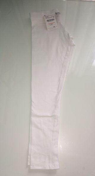 Leggings largos de color blanco Zara