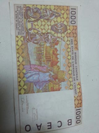 Billete 1000 francs