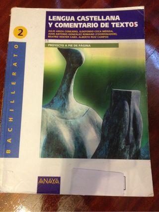 Lengua castellana y comentarios de texto. 2 Bachi