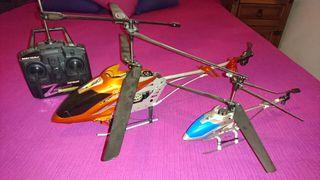 2 helicopteros teledirigidos
