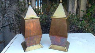 2 cajas antiguas cobre y latón