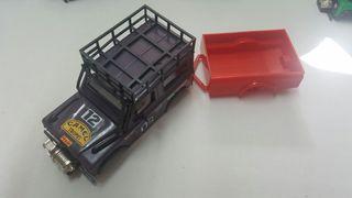 Carrocería Land Rover sts de exin color Lila con remolque rojo . Gastos de envío no incluidos. Scalextric, slot