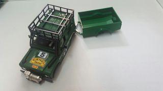 Carrocería Land Rover sts de exin color verde militar con remolque. Gastos de envío no incluidos. Scalextric, slot
