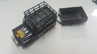 Carrocería Land Rover sts de exin color negra con remolque . Gastos de envío no incluidos. Scalextric, slot