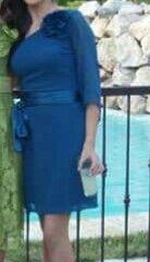 Vestido verde azulon
