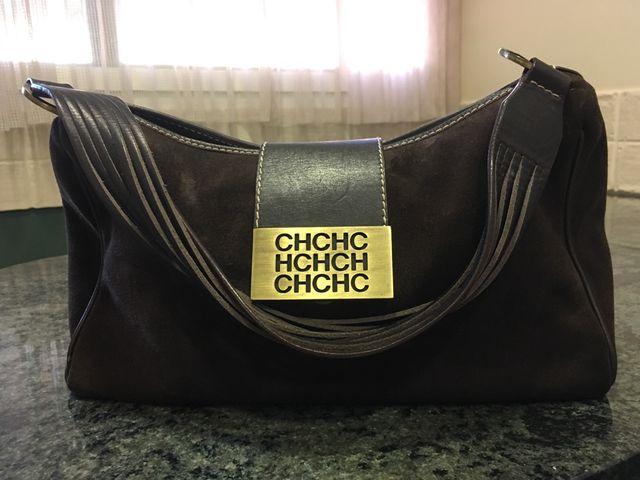 eae97bc5f Bolso CH Original , de ante color marrón chocolate de segunda mano ...