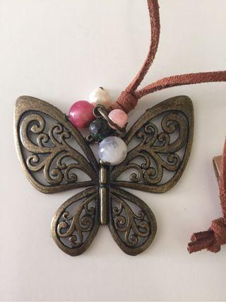 Colgante vintage mariposa