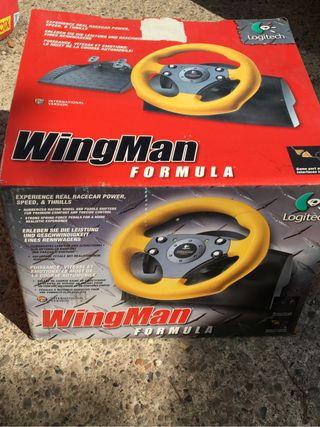 Volante logitech Wingman con pedales