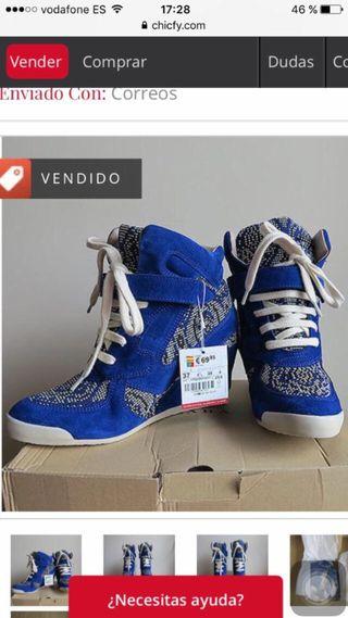 61b96a3487 Botines Zara de de de tacón de segunda mano en Córdoba en WALLAPOP a583cc