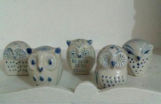Búhos cerámica
