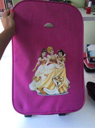 Conjunto maleta, neceser y bandolera princesas