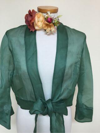 Vestido verde botella para fiesta