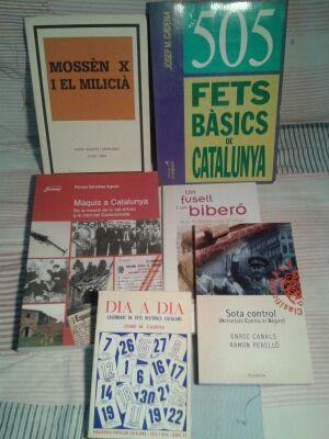 Llibres d'història de Catalunya, lot de sis