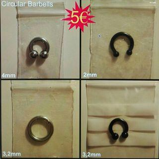 Circular Barbells o Septums