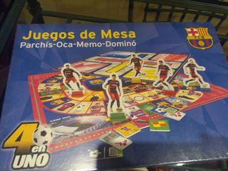 FC Barcelona. Juego de mesa 4 en 1.