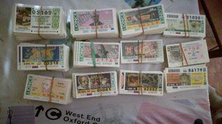 Boletos once y loteria nacional años 80,90 y 2000