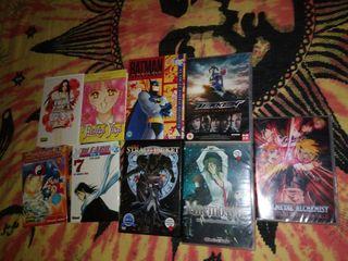 Lote comics manga y peliculas de anime