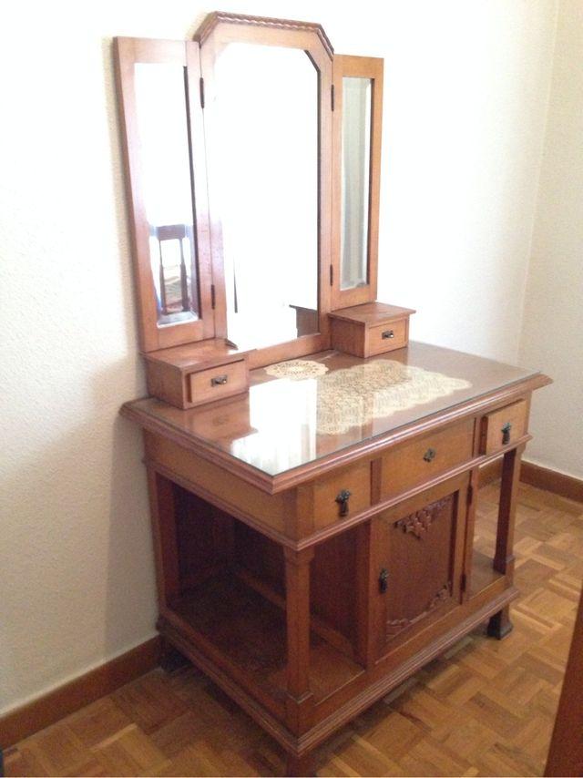 Tocador mueble modernista antiguo art deco madera vintage entrada de segunda mano por 215 en - Mueble entrada vintage ...
