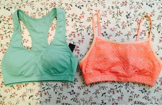 Lote 2 tops fitness Forever21