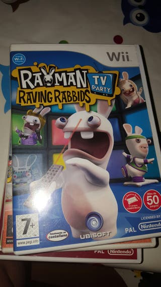 Juego wii Rayman raving Rabbits tv party