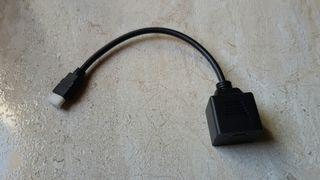 Cable HDMI salida doble