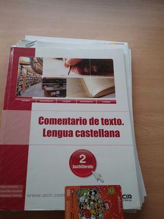 Lengua Castellana 2° BACHILLERATO