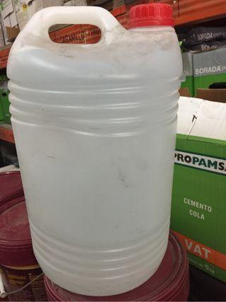 Garrafa 25 L plástico