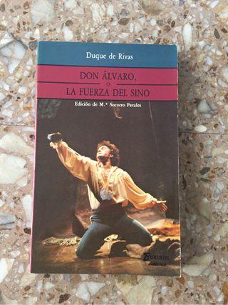Libro: Don Álvaro o La fuerza del sino