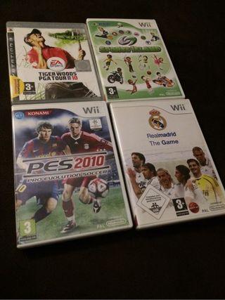 Juegos Wii y play 3.