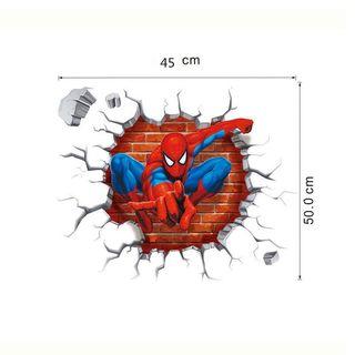 Vinilo decorativo 3d Spiderman nuevo y precintado. Vinilos decorativos. Stickers pared. Etiqueta. Pegatina.
