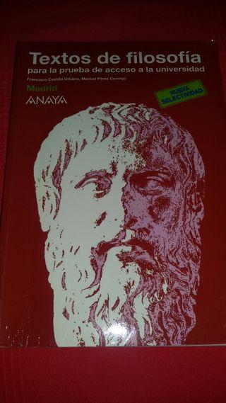 Libro Textos de Filosofía