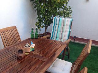 Conjunto patio de madera