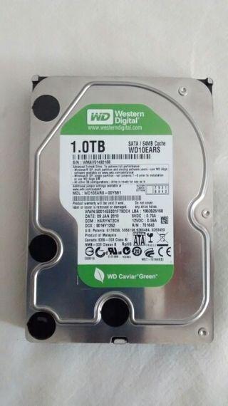 Disco duro interno WD 1TB SATA (formateado)
