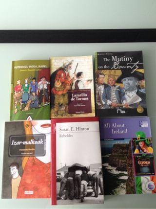 Libros de lectura de 3 eso:inglés,euskera y lengua