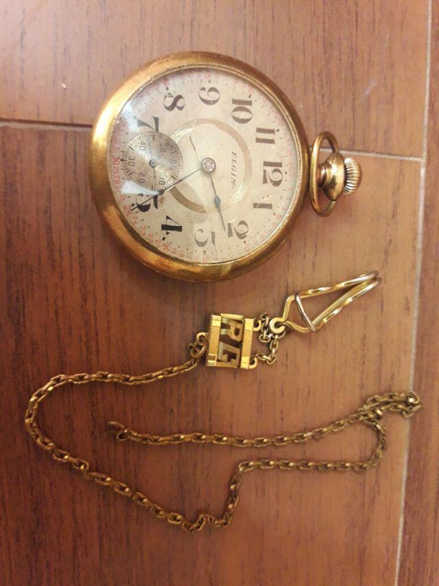 5854c0113 Reloj Bolsillo Antiguo Elgin Ju de 1888 de segunda mano por 190 € en ...
