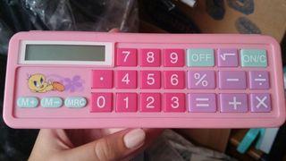 Estuche calculadora rigido de piolin