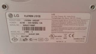 Pantalla LG Flatron L1915S