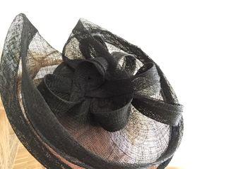 Tocado para boda negro