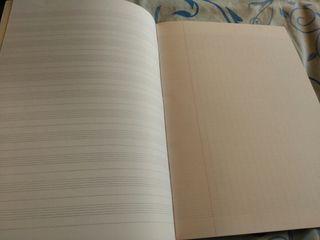 Cuaderno.libreta música pentagrama
