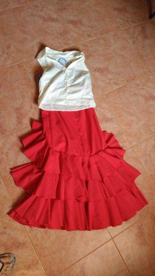 Falda flamenca con corpiño