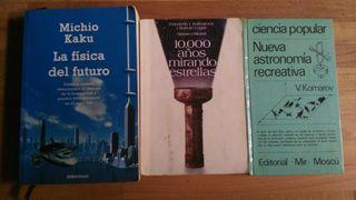 3 LIBROS DE DIVULGACION DE FISICA Y ASTRONOMÍA