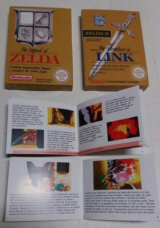 Pack cajas zelda 1 y 2 nes repro