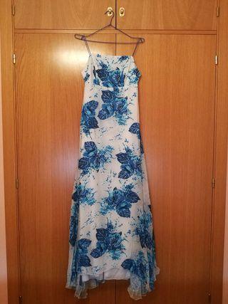 Vestido fiesta azul/blanco segunda mano  España