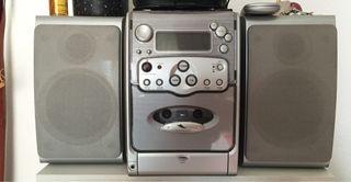 Equipo Musica Radio cd Cassette