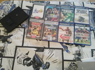 Play station 2 + juegos+ memory card+mando