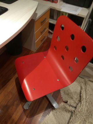 Silla escritorio roja