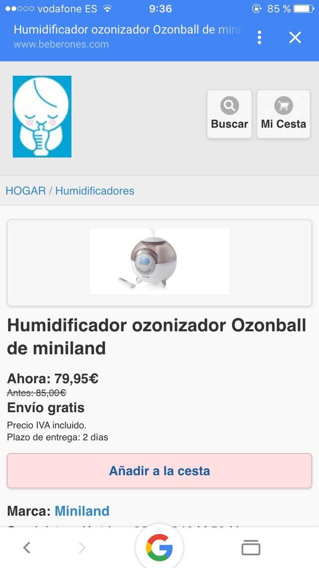 Humifificador ozon ball